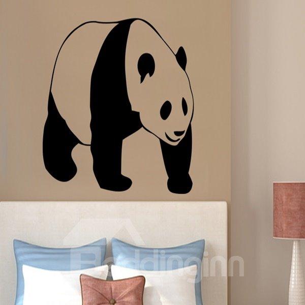 Black Decorative Panda Pattern Removable Wall Stickers