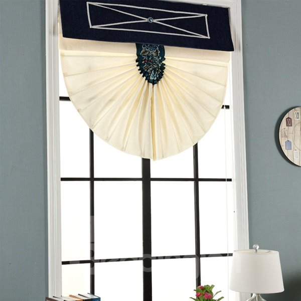 Modern Mediterranean Thicken Semi-Blackout Home Decor Roman Shades