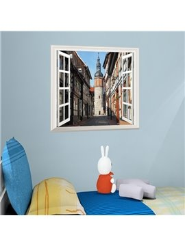 Modern Design Building and Tower Window Scenery Wall Stickers