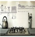 Simple Style Kitchen Utensils Pattern Wall Stickers