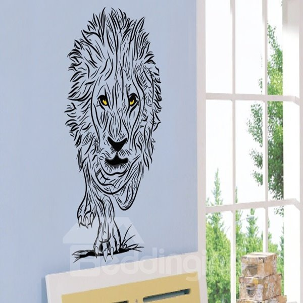 Simple Style Black Lion Pattern Decorative Wall Stickers