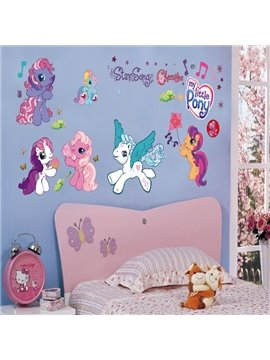 Cute Design Cartoon Dragon Pattern Children Room Wall Stickers
