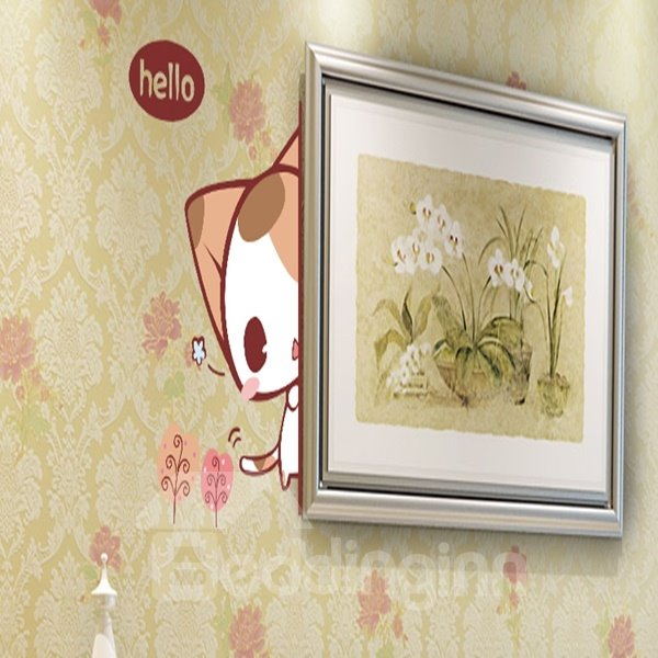 Stylish Cute Cat and Letter Pattern Wall Stickers