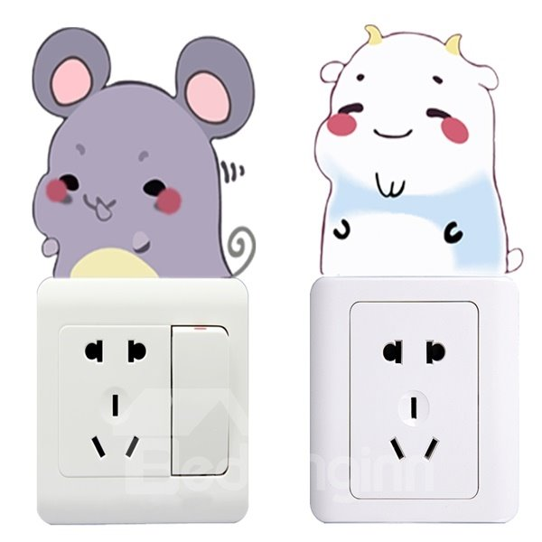 Very Cute Animal Pattern Light Switch Decoration Wall Stickers