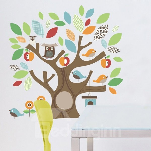 Cartoon Tree House and Animal Children Room Decoration Wall Stickers