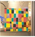 Colorful Different Shape of Grid Glass Wall Stickers