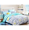 Swimming Whale Pattern  4-Piece Blue Cotton Duvet Cover Sets