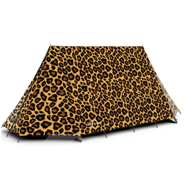 2-Person Leopard Pattern Outdoor Tent with Two Layers and One Bedroom Waterproof Camping Tent
