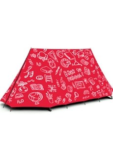 2-Person Back to School Graffiti Outdoor Tent with Two-Layers Waterproof Camping Tent