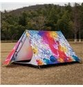 2-Person Colorful Sea Wave Exotic Outdoor Tent with Two Layers Waterproof Camping Tent