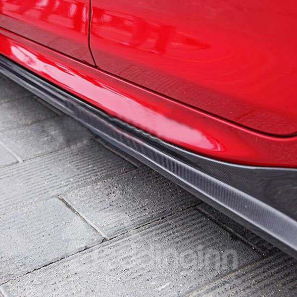 Special Car External Decoration 2-Pieces Carbon Fiber Side Skirts