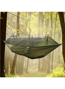 2-Person Nylon Taffeta Material Outdoor Camping Hiking Professional Hammock with Mosquito Net