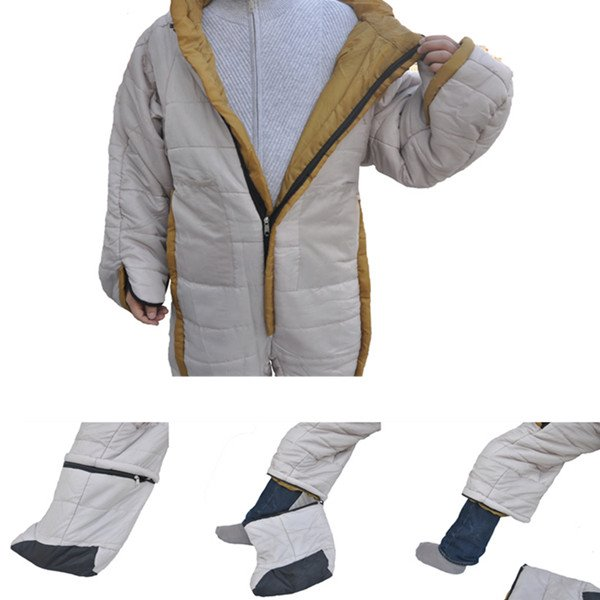 Outdoor -10 Degree Polyester Humanoid Warm Camping Sleeping Bag