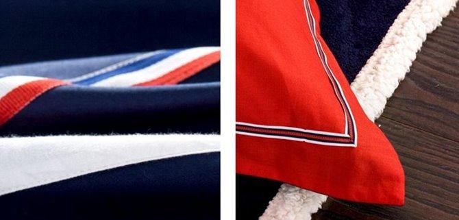 Unique England Flag Print 4-Piece Cotton Duvet Cover Sets
