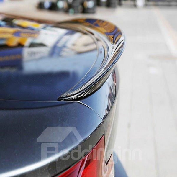 Sport Curved Design Carbon Fiber Rear Trunk Boot Lip Spoiler