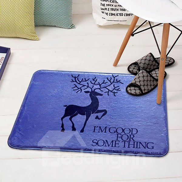 Simple Style Rectangle Deer Pattern Decorative Doormat