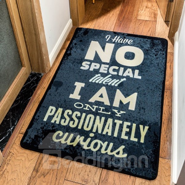 Fashion Design Rectangle Letters Pattern Area Rug