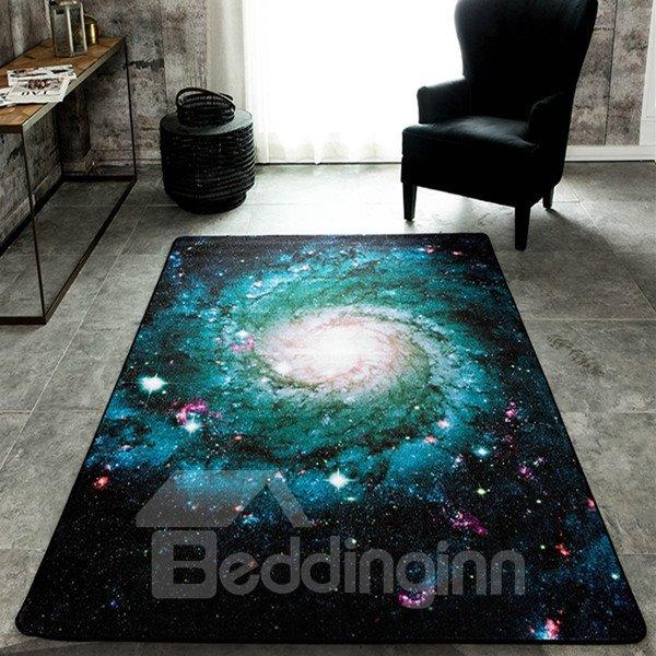 Sparkling Rectangle Universe Planet Pattern Decorative Area Rug