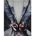 Cool Long Sleeve 3D Painted Novelty Pattern Zipper Hoodie for Men