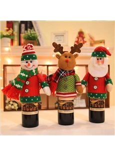 Pretty Festival Christmas Decoration Santa Claus Pattern Wine Tote Bag