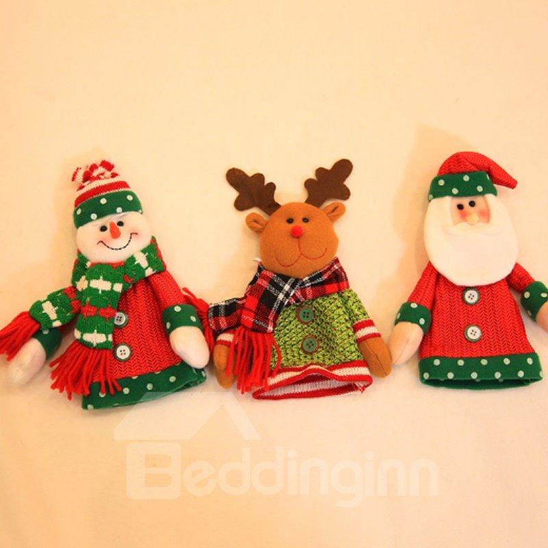 Pretty Festival Christmas Decoration Santa Claus Pattern Wine Tote Bag