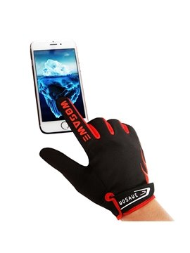 Outdoor Fleece Material Road Bike Tele-fingers Cycling Warm Gloves