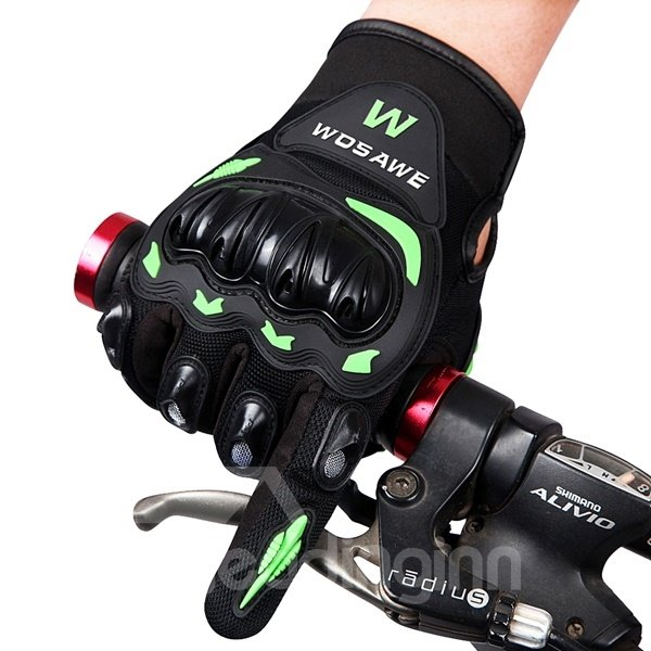 Unisex Outdoor Shockproof Motorcycle and Cycling Long Sleeve Gloves 12247192