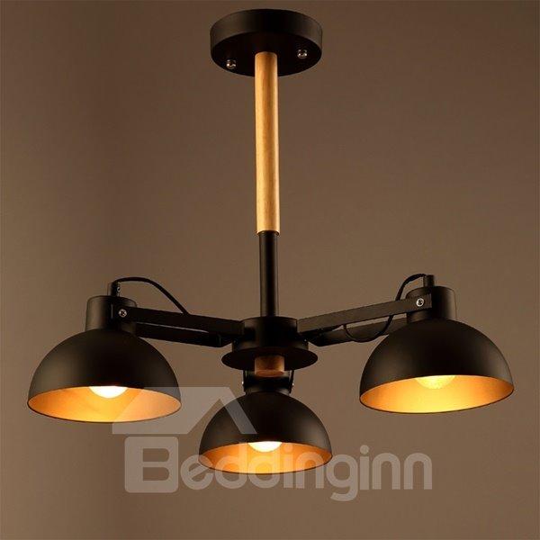 Simple Style Black Iron 2 Bulb Holders Pendant Light