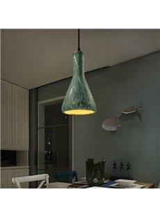 Green Iron Trumpet Shape Home Decorative Pendant Light