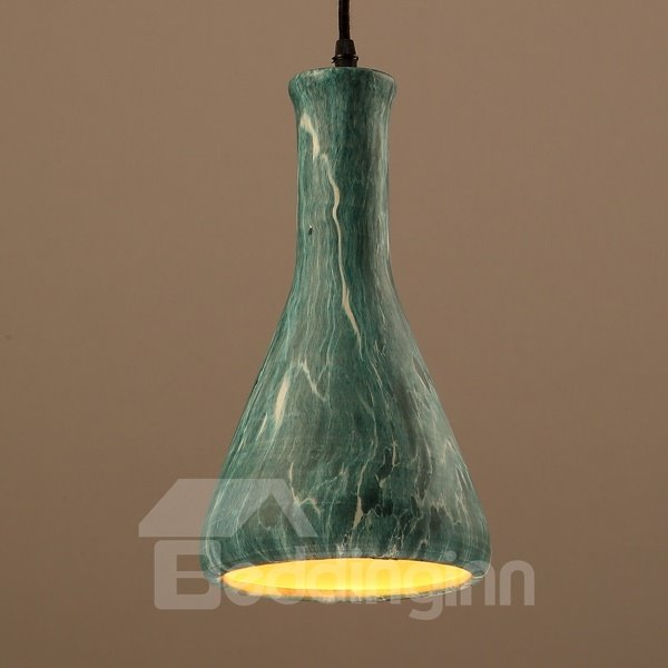 Green Iron Trumpet Shape Home Decorative Pendant Light