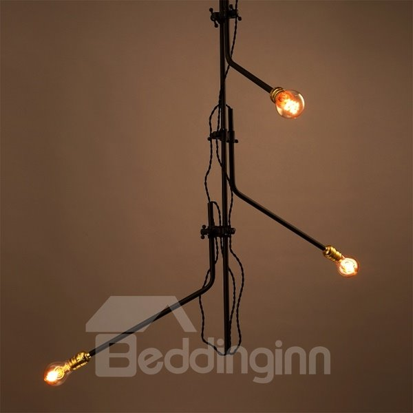 Modern Creative Iron Branch Shape 3 Bulb Holders Pendant Light