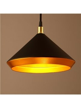 Black Iron Funnel Shape Decorative Pendant Light