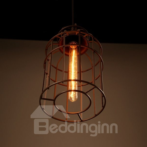 Unique Design Iron Birdcage Shape Pendant Light