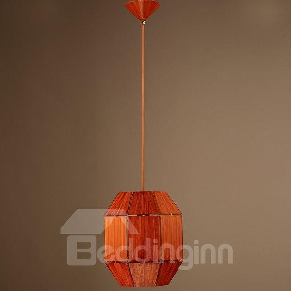 Orange Iron Frame Cask Shape Home Decorative Pendant Light