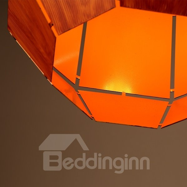 Orange Iron Frame Cask Shape Home Decorative Pendant Light