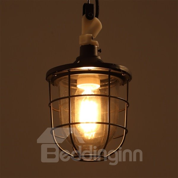 Simple Style Iron Frame with 1 Bulb Holder Pendant Light