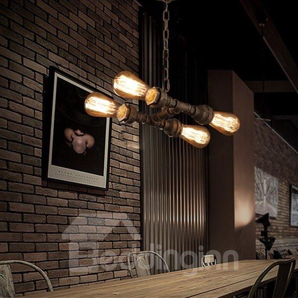 Classical European Style Iron Frame 4 Bulbs Pendant Light
