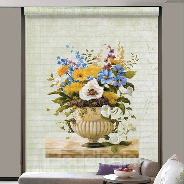 Colored Flowers in the Vase 3D Printing Shangri-La Blinds & Roller Shades