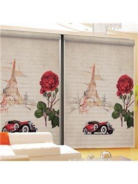 Typical Romantic Paris Printing 3D Shangri-La Blinds & Roller Shades