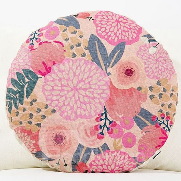 Unique Design Pastoral Style Round Throw Pillow