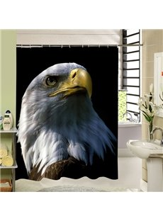 A Powerful Eagle Face Printing 3D Bathroom Decor Shower Curtain