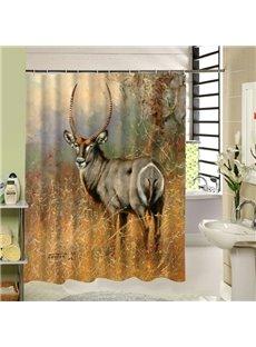 A Deer Torsion Head Printing 3D Bathroom Decor Shower Curtain