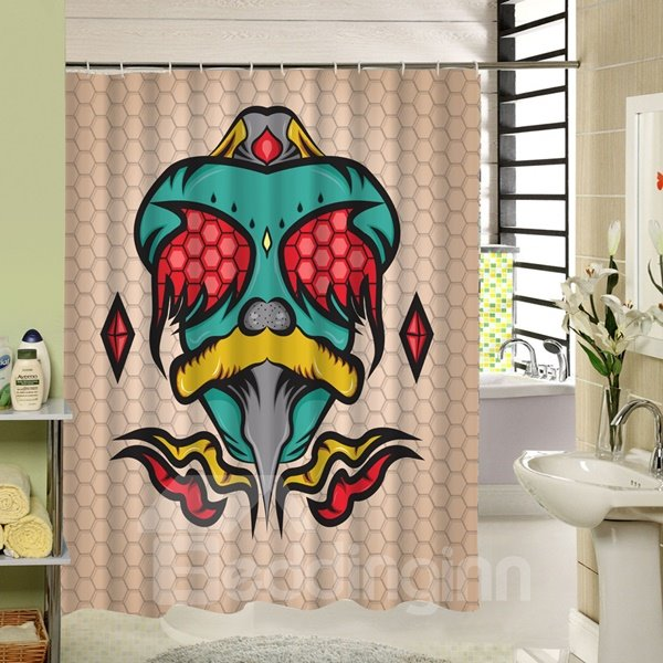 Clip Art Snake Printing 3D Waterproof Polyester Shower Curtain