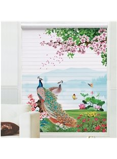 Gorgeous Peacock on the Grass Printing 3D Shangri-La Blinds & Roller Shades