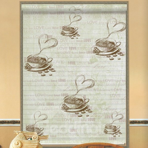 Sweaty Coffee Printing Polyester 3D Shangri-La Blinds & Roller Shades