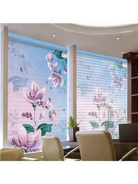 Dreamy Purple Flowers Printing 3D Shangri-La Blinds & Roller Shades