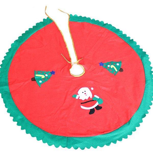 Lovely Festival Christmas Decoration Santa Claus Pattern ChristmasTree Skirt