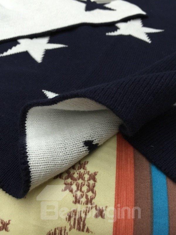 Popular Star Print 100% Cotton Thread Blanket