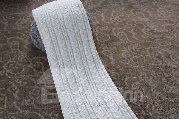 Fancy Solid Color Tigre Cashmere and Orlon Thread Blanket