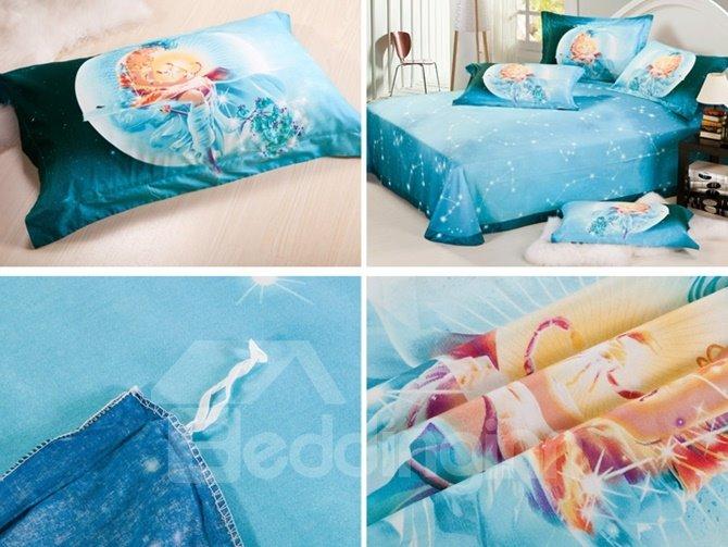 Fancy Scorpio 3D Printed 4-Piece Cotton Duvet Cover Sets